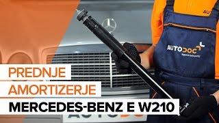Vgradnja spredaj Blažilnik MERCEDES-BENZ E-CLASS: video priročniki