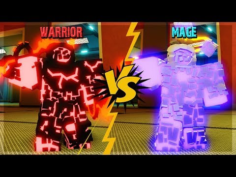 MAGE VS WARRIOR WHO IS BETTER? WHAT IS THE BEST SKILL? IN ORBITAL OUTPOST DUNGEON QUEST ROBLOX