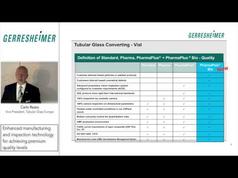 Pharmaceutical tubular glass vials Enhanced manufacturing and inspection technology - Carlo Reato