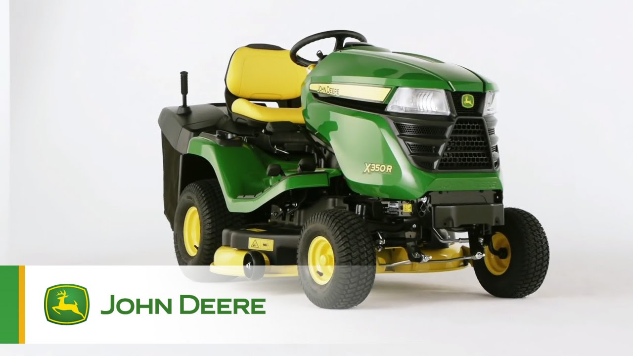 john deere rasentraktor x350r youtube. Black Bedroom Furniture Sets. Home Design Ideas