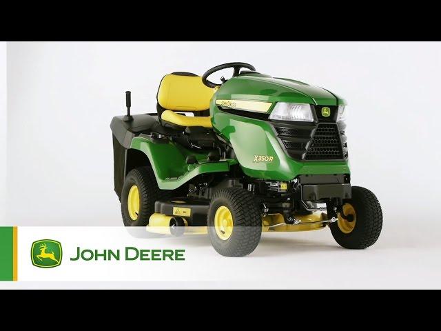 John Deere Rasentraktor X350R