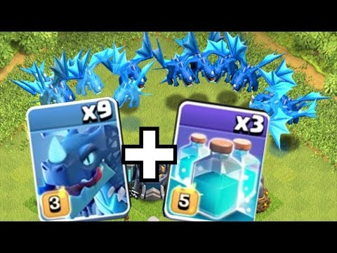 "THE MOST E-DRAGONS POSSIBLE!! ""Clash Of Clans"" CLONE WARS!!"