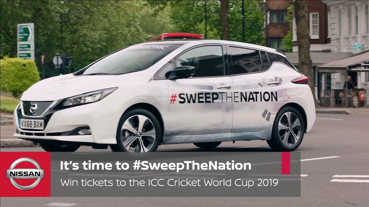 It's time to #SweepTheNation! Win tickets to the ICC Cricket World Cup 2019  with Nissan