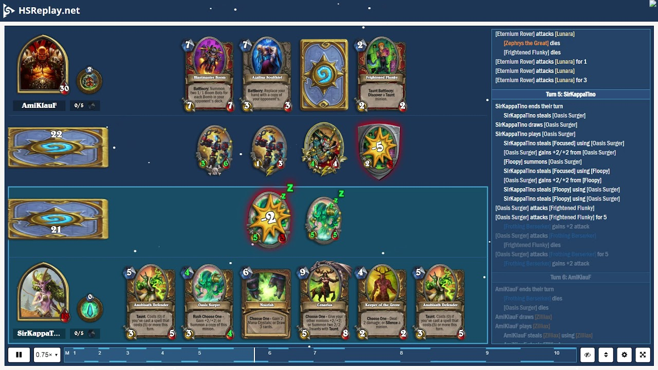 ProGaming - Hearthstone, Aggro Warrior(4) vs Quest Druid(3) by AmiKlauF and  SirKappaTino, Ranked