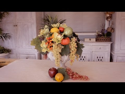 How to Make a Fruit Floristry Arrangement for a Banquet Table