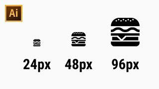 How to Draw 24px Pixel Perfect Burger Icon - Adobe Illustrator