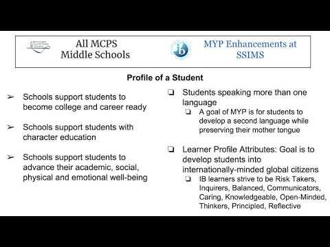 MYP Silver Spring International Middle School BTSN