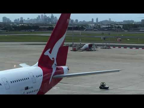QF27 - Sydney to Santiago boarding passengers - Looks real to me.