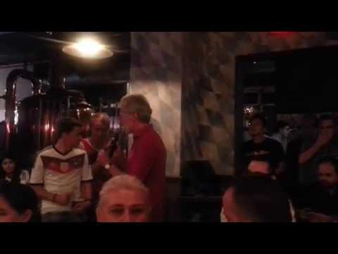 Bayern München legend Paul Breitner speaks at Paulaner Brauhaus in New York City