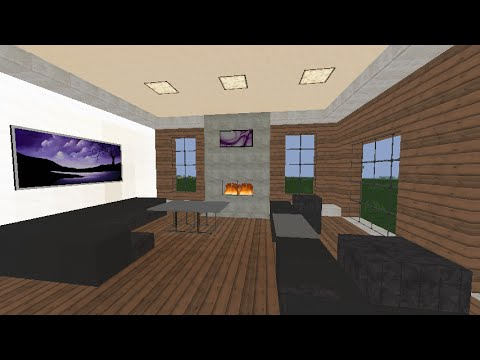 tuto minecraft salon moderne youtube. Black Bedroom Furniture Sets. Home Design Ideas