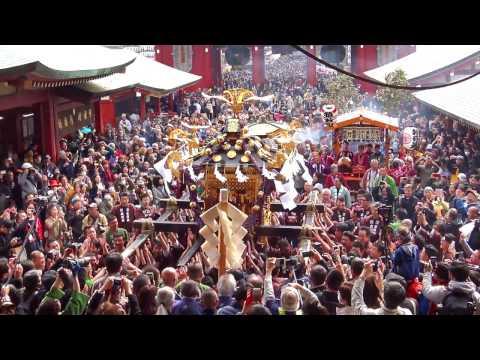 浅草神社本社神輿「堂下げ」2017_宮入渡御_ Asakusa Shrine Mikoshi Parade