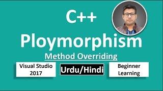 35. C++ in Urdu/Hindi Polymorphism Method Overriding Beginners Tutorial vs 2017