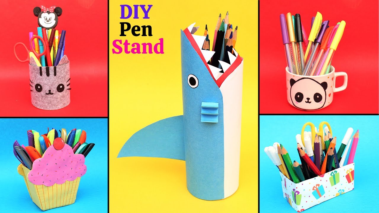 5 DIY Cute & Useful Pen stand Ideas| Best out of Waste| DIY Pen/Pencil Holders