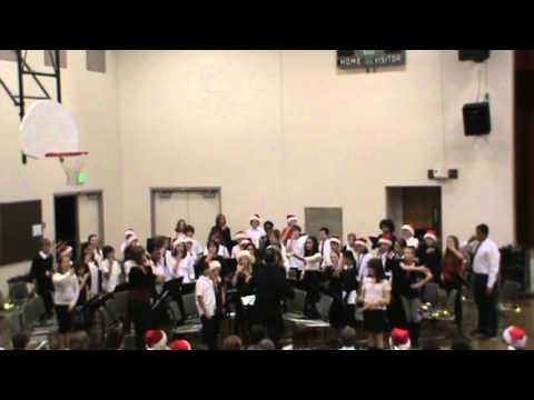 Sellwood Middle School Intermediate Band - Mele kalilimaka Song WC  2012