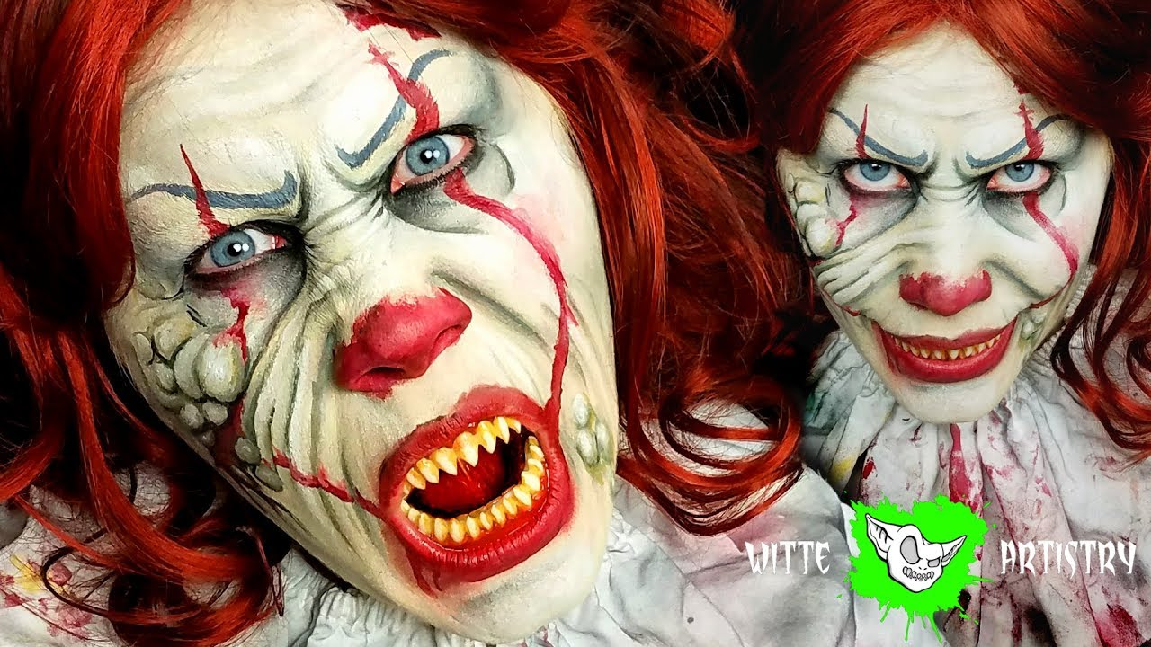 zombie pennywise the clown makeup halloween tutorial it 2017 youtube. Black Bedroom Furniture Sets. Home Design Ideas