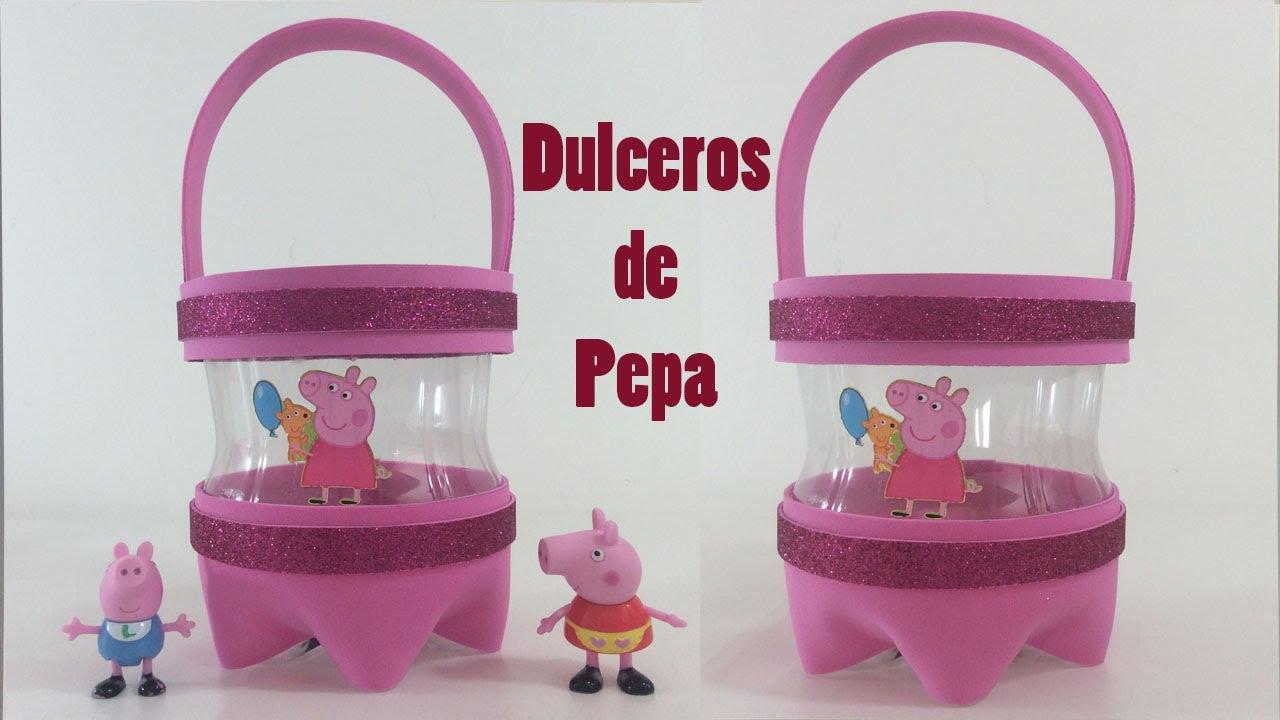 Como hacer dulceros de Pepa  YouTube