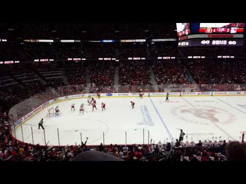 04/29/17 Ottawa Senators vs New York Rangers Pageau Tying hatty