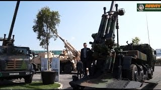 Nexter Systems Eurosatory 2014 Artillery Solutions Trajan CAESAR 155mm howitzer light gun 105mm LG1