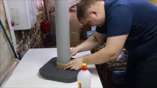 Как я когтеточки делаю. Когтеточка своими руками часть 4