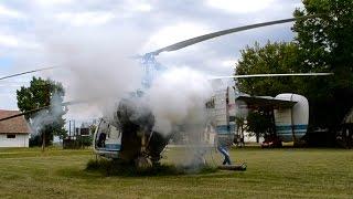 Kamov Ka-26 cold engine start, engine test and take off at Kislippó, Hungary