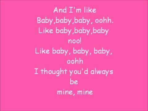 Baby Justin Bieber Lyrics Chord Overstreet Youtube