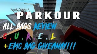 Roblox Parkour - All Bags Review + Epic Bag Giveaway!!!!