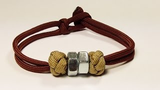 """""""How You Can Make This Hex Nut And Ranger Bead Paracord Bracelet"""""""