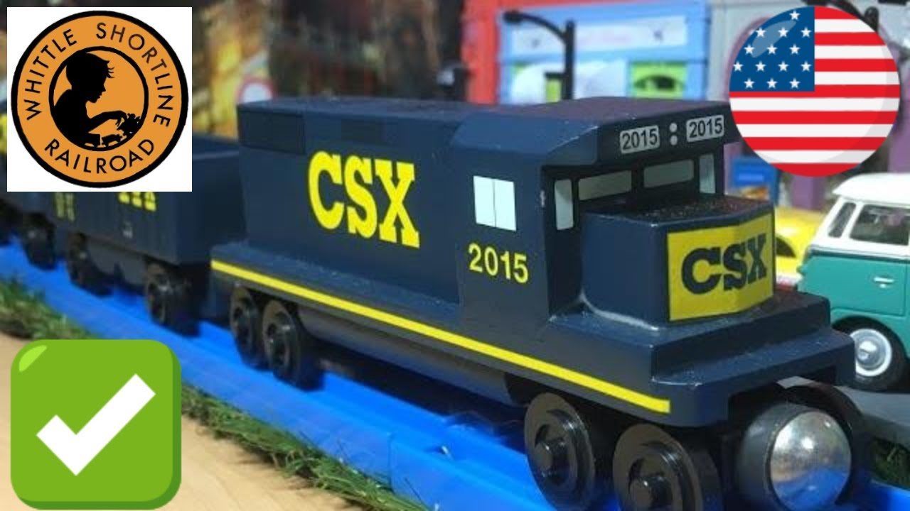 Csx Transportation Whittle Shortline Railroad Wooden Toy Trains With Rmz City Diorama 03953