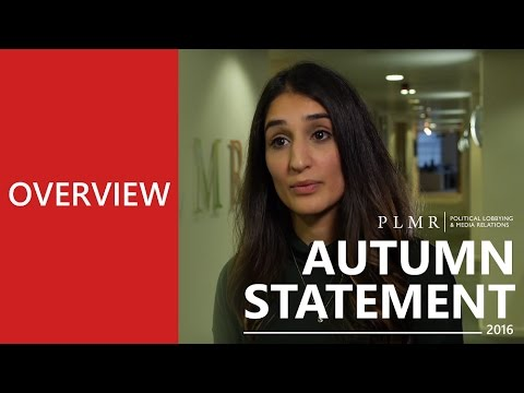 PLMR Autumn Statement 2016 - An Overview