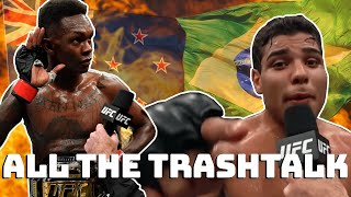 Israel Adesanya vs Paulo Costa - All The Trash Talk