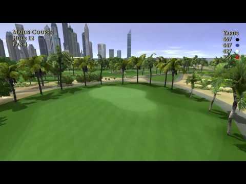 Emirates Golf Club, Majlis Course Flyovers (Holes 1-18)