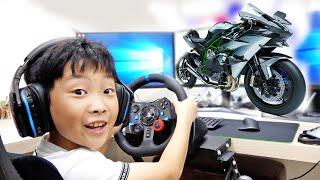 예준이의 슈퍼바이크 게임 플레이 스포츠 바이크 장난감 조립놀이 Superbike Game Play with Toy Assembly
