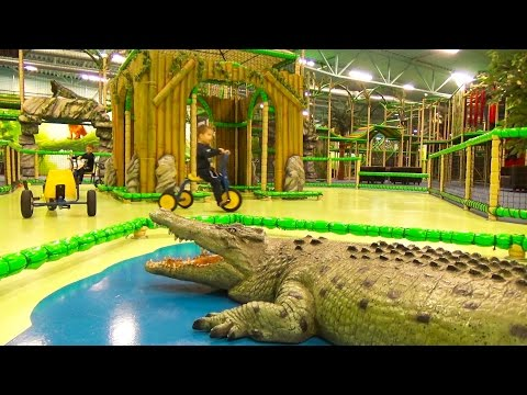 Bycicle ride Crocodile JOHNY JOHNY YES PAPA song Indoor Playground fun for kids