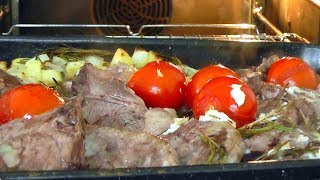 How to cook Lamb Chops with Rosemary & Garlic potatoes recipe