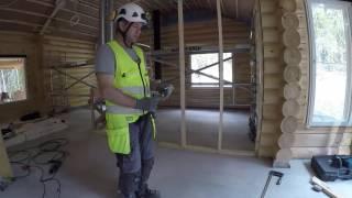 видео Как сделать перегородки в деревянном доме из бруса