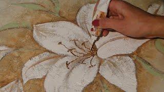 Мастер класс Как нарисовать цветы своими руками по декоративной штукатурке *Необычный декор стен*(В сюжете представлены основные этапы создания художественной росписи стен цветами по декоративной штукат..., 2014-02-08T01:59:02.000Z)