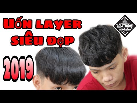 Uốn phồng tóc nam ( uốn kiểu layer)   Hollywood barber