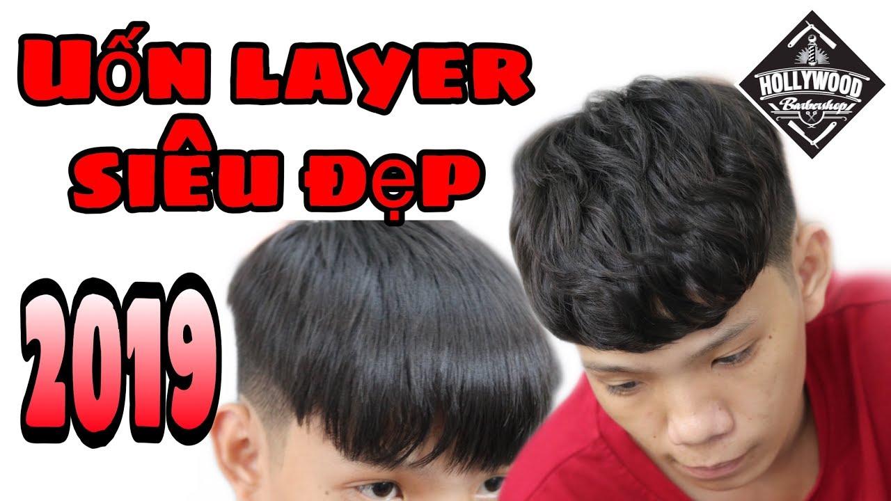 Uốn phồng tóc nam ( uốn kiểu layer) | Hollywood barber