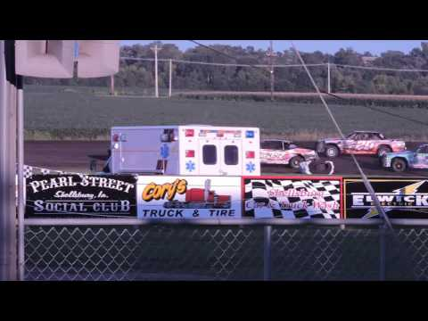 2016-08-14 IMCA Hobby Stock Feature from Benton County Speedway in Vinton, Iowa