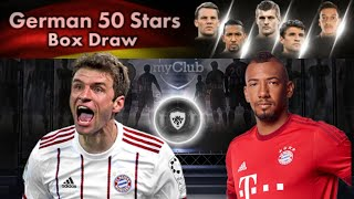 PES 2018|HOW TO GET BLACK BALL IN GERMAN 50 STARS BOX|BLACK BALL TRICK|PES INFO TRICKS