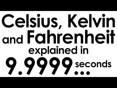 Fahrenheit, Celsius and Kelvin explained in ten seconds