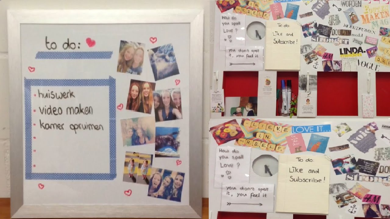 Diy Kamer Pimpen : Diy white board maken en pimpen youtube