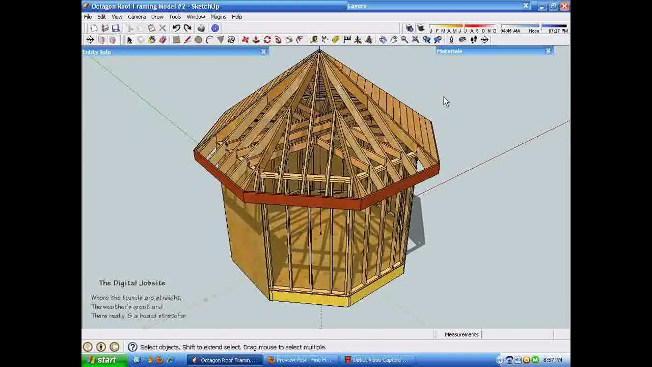 Exploring Octagonal Roof Framing Part Two Youtube