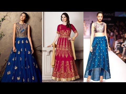 Long Anarkali Gown Dress Designs 2017 Part 07
