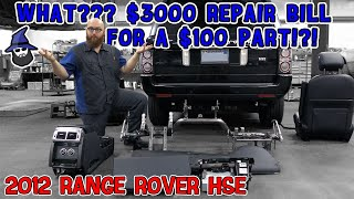 WHAT?!? $3000 repair bill for a $100 part? CAR WIZARD shows the mess this '12 Range Rover HSE is in