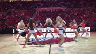 Beaver Cheer Preforms at Blazers 2016