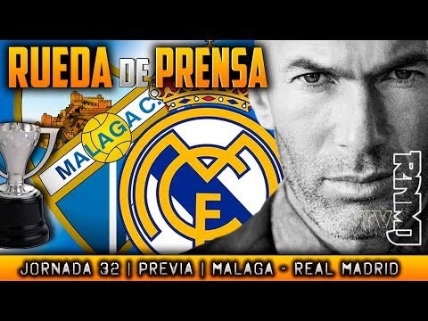 Málaga - Real Madrid Rueda de prensa de Zidane (14/04/2018) | PREVIA LIGA JORNADA 32