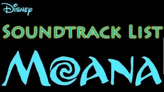 Moana OST - (Soundtrack list)