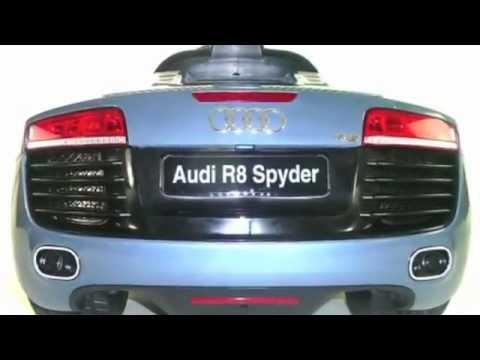 Audi R Spyder Premium V Electric Kids Ride On Car YouTube - Audi 6v car