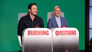 Download Chris Pratt Answers Ellen's 'Burning Questions' Mp3 and Videos